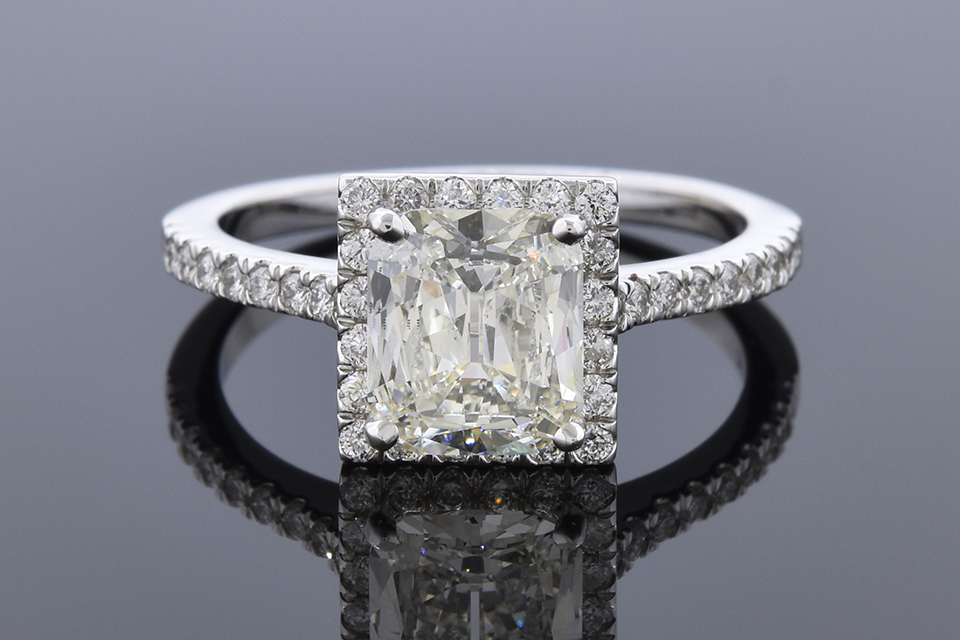 Item #12045 Cushion Cut Halo Diamond Engagement Ring 12045