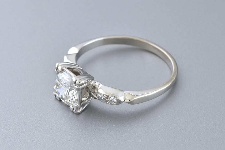 Vintage .91 Carat Diamond Engagement Ring