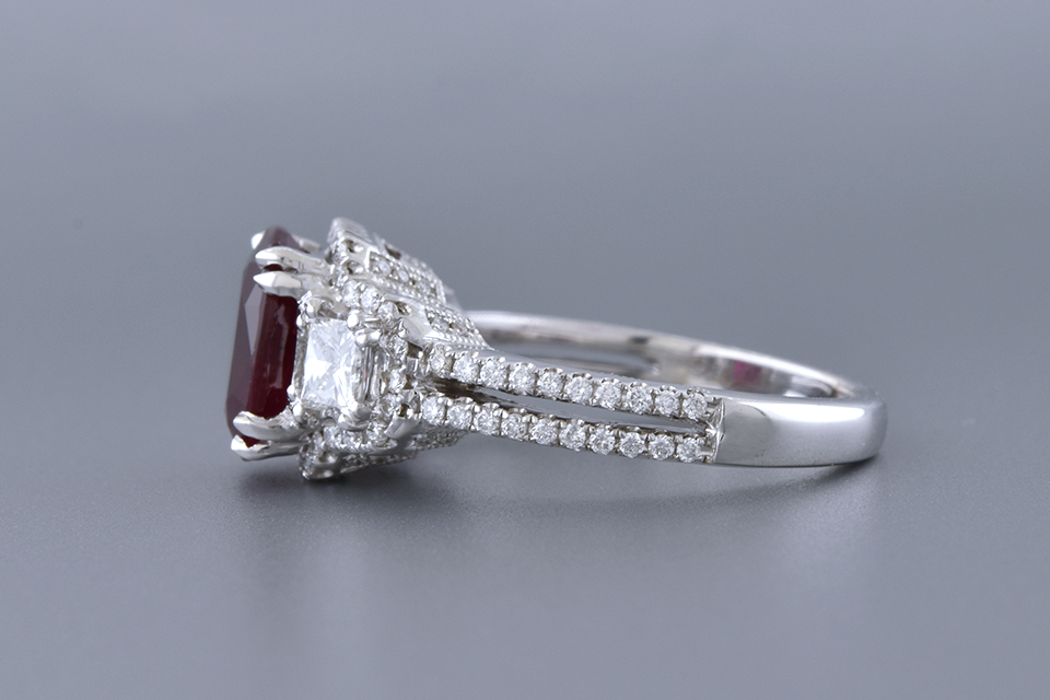 Rich Red 2.57 Carat Ruby Ring by Simon G.