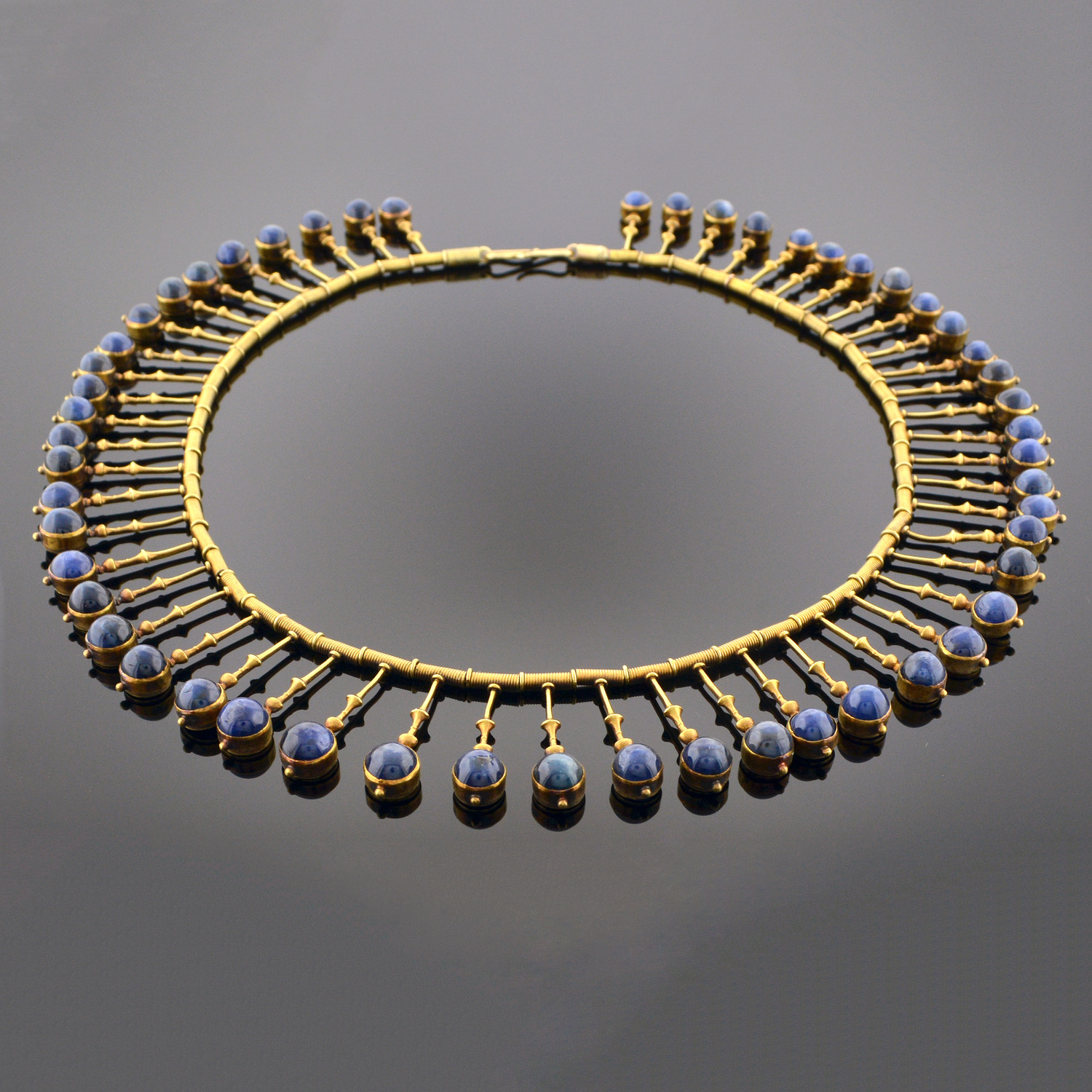 Important Gold and Sapphire Fringe Necklace
