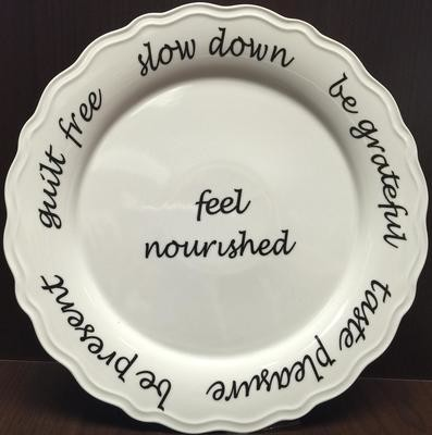 Mindful Eating Tableware  white porcelain dinner plate