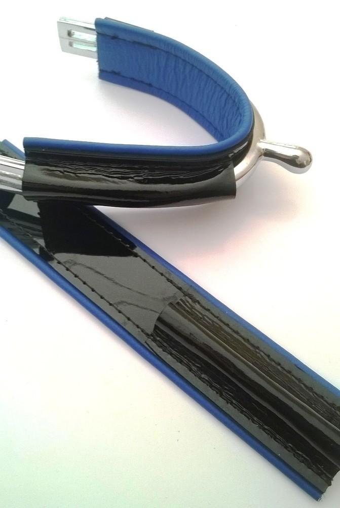 Duo Full Noir Vernis - Bleu Roi /  Full Black Shiny - Blue