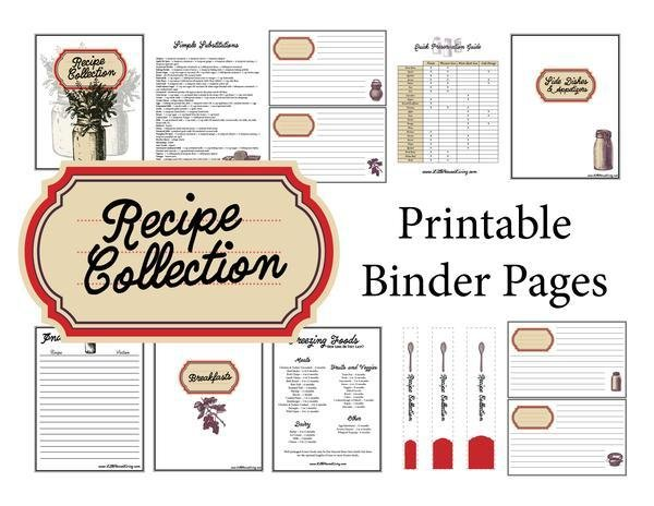 Red Recipe Binder Pages (Instant Download)
