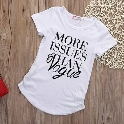 Girls Vogue White T-shirt