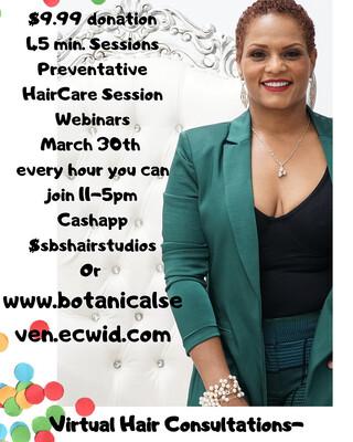 45 Minute Preventative Healthy Haircare Webinar