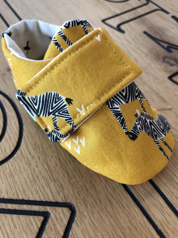 Dijon Giraffe Baby Shoes, 0-3 months