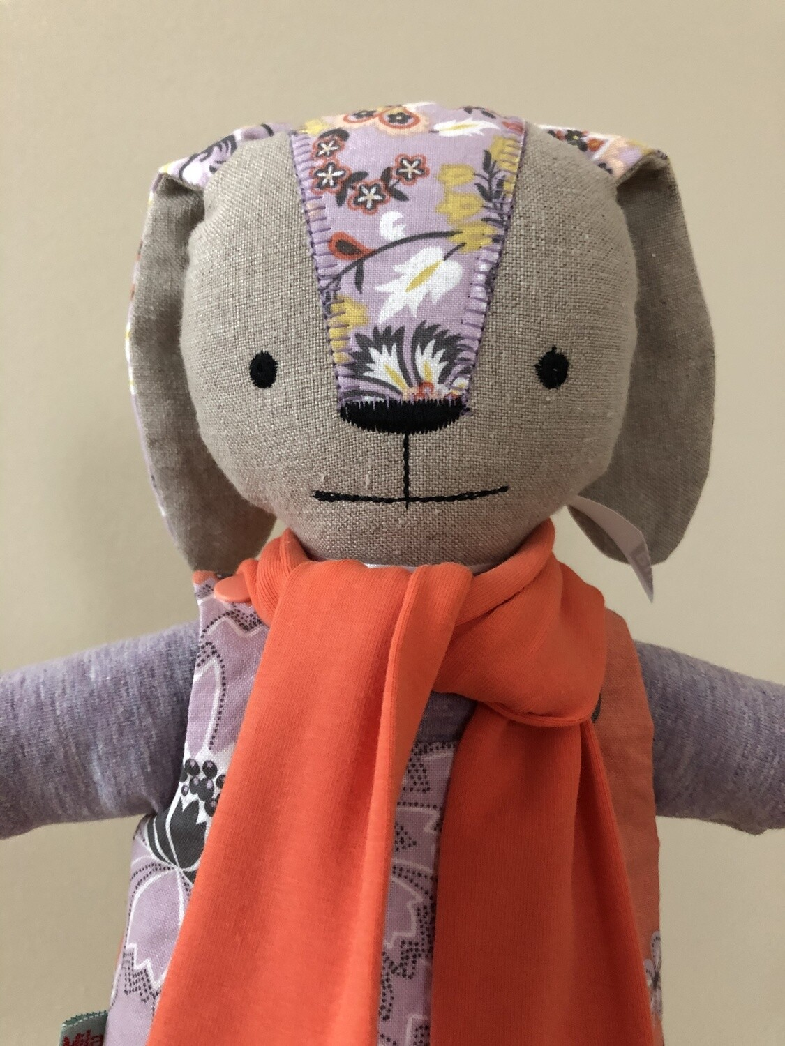 Bunny Doll in Lilac & Coral