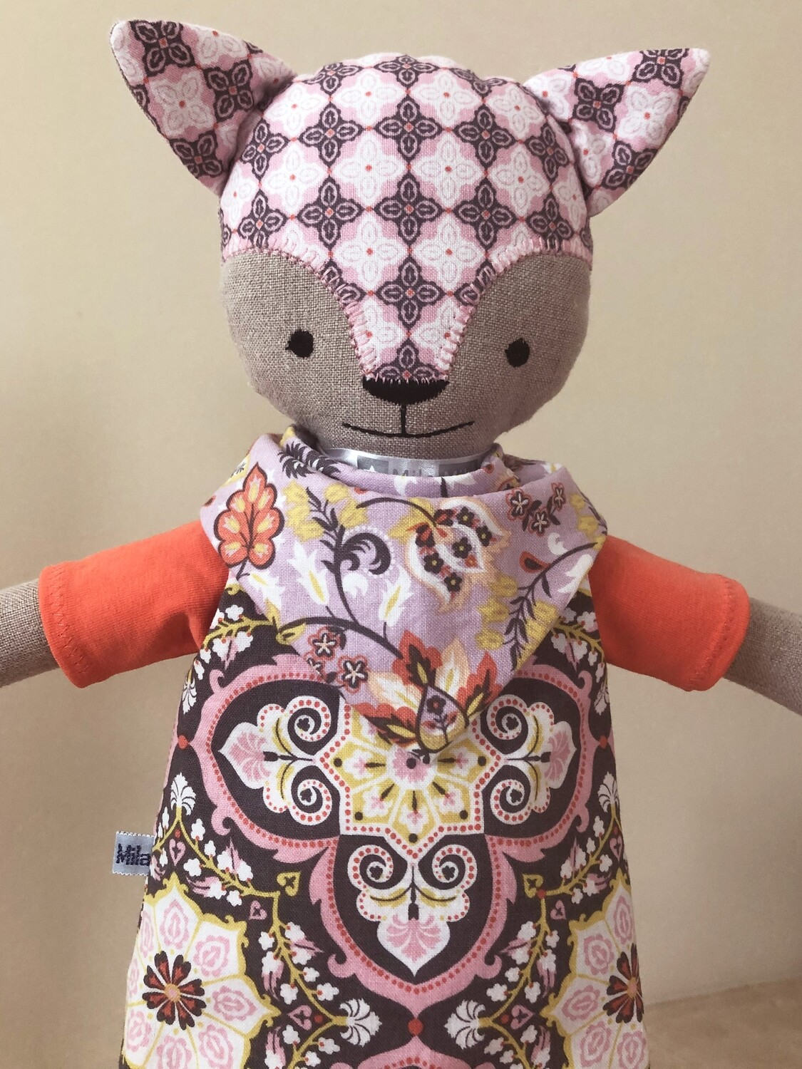 Cat Doll in Lilac & Coral