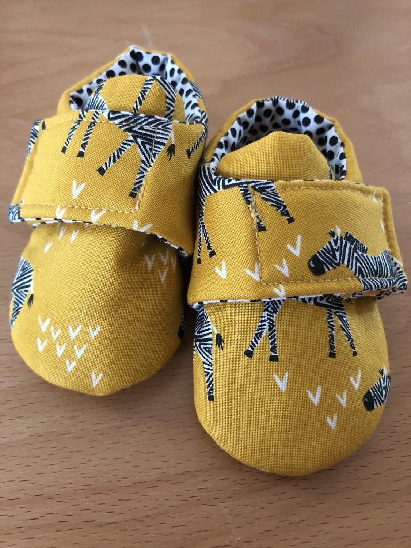 Dijon Giraffe Safari Baby Shoes, 0-3 months