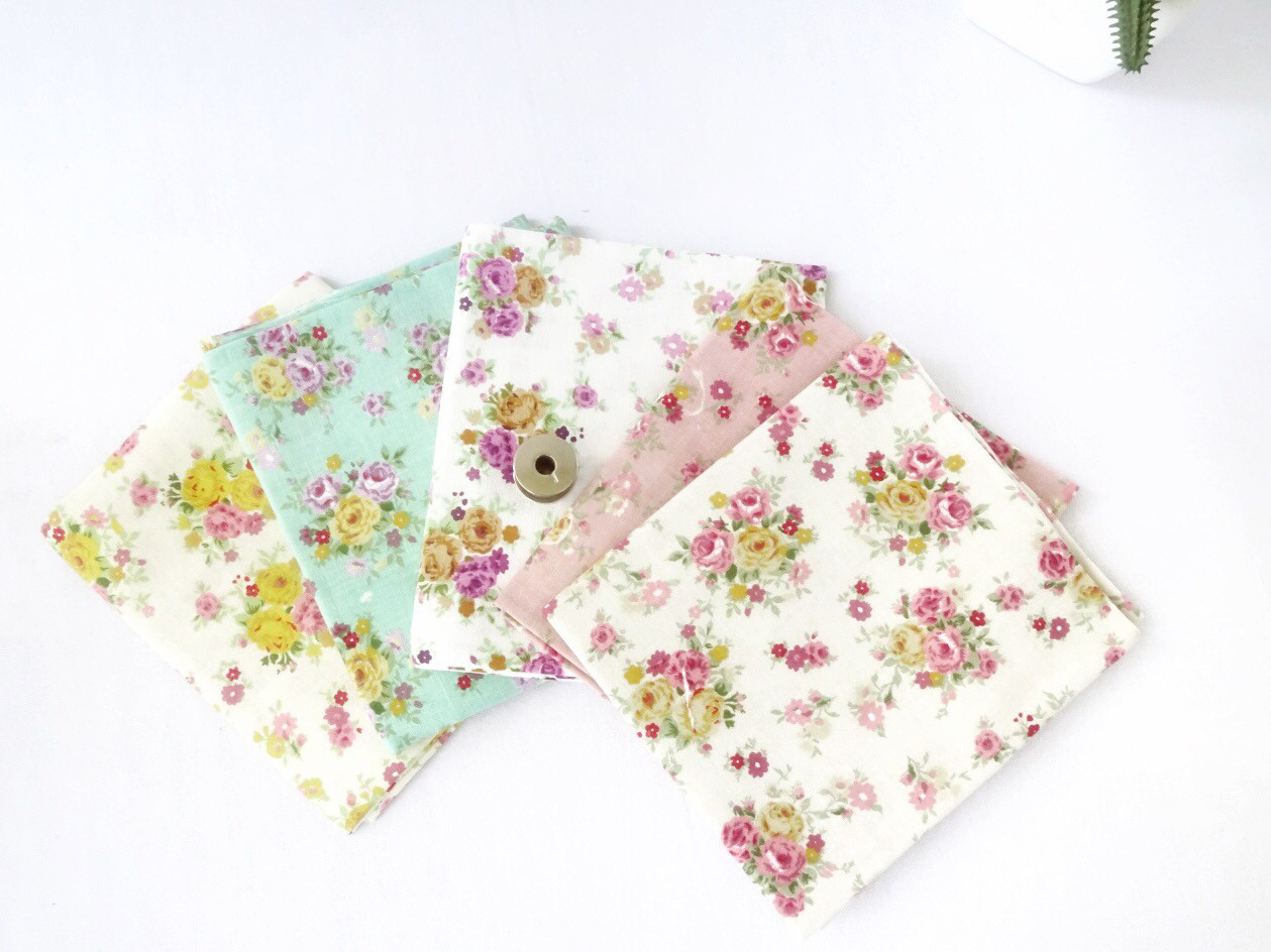 Floral Fabric Bundle Of 5