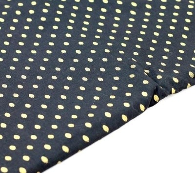 Black and gold cotton fabric