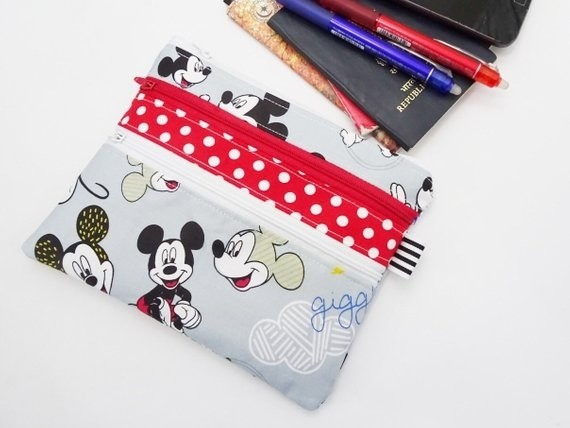 Disney Mickey Mouse Multi Zip Pouch