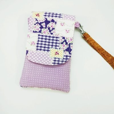 Purple Cell Phone Pouch, Mobile Phone Sling Bag