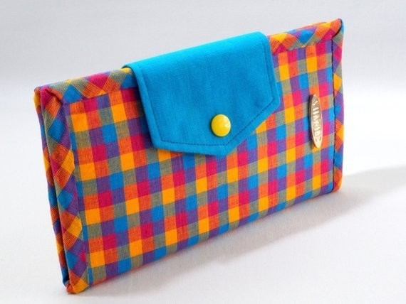 Checkered Handmade Bifold Wallet