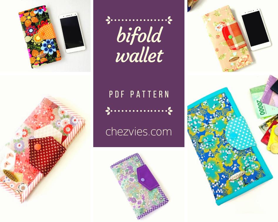 Pdf Pattern - Bifold Wallet , Card Wallet Pattern, Phone Wallet Pattern