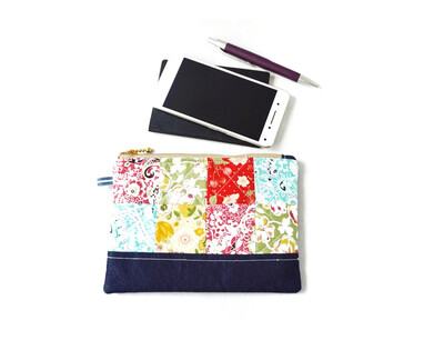 Patchwork  Denim Pouch
