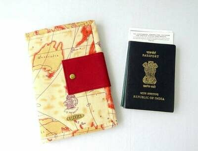 World Map Handmade Family Travel Wallet
