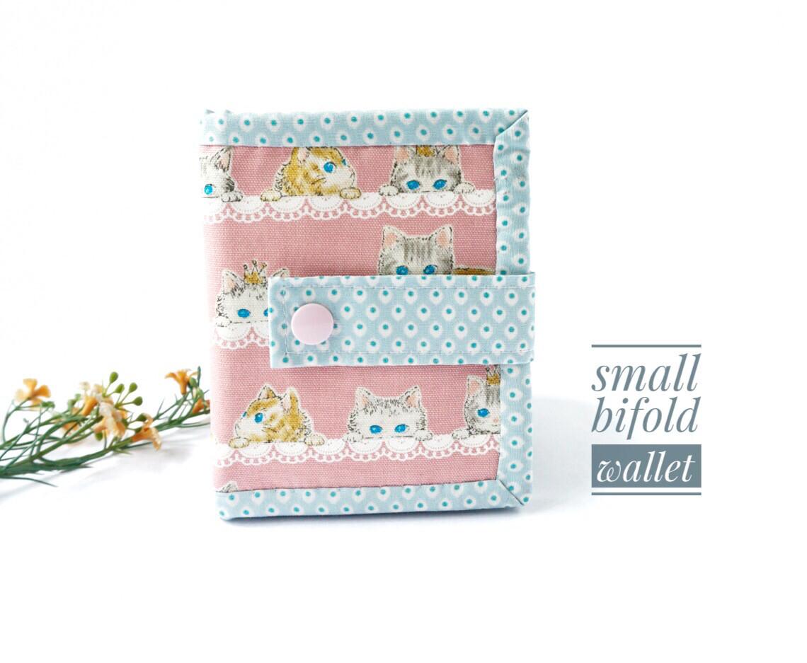 Pink Cat Mini Bifold Wallet