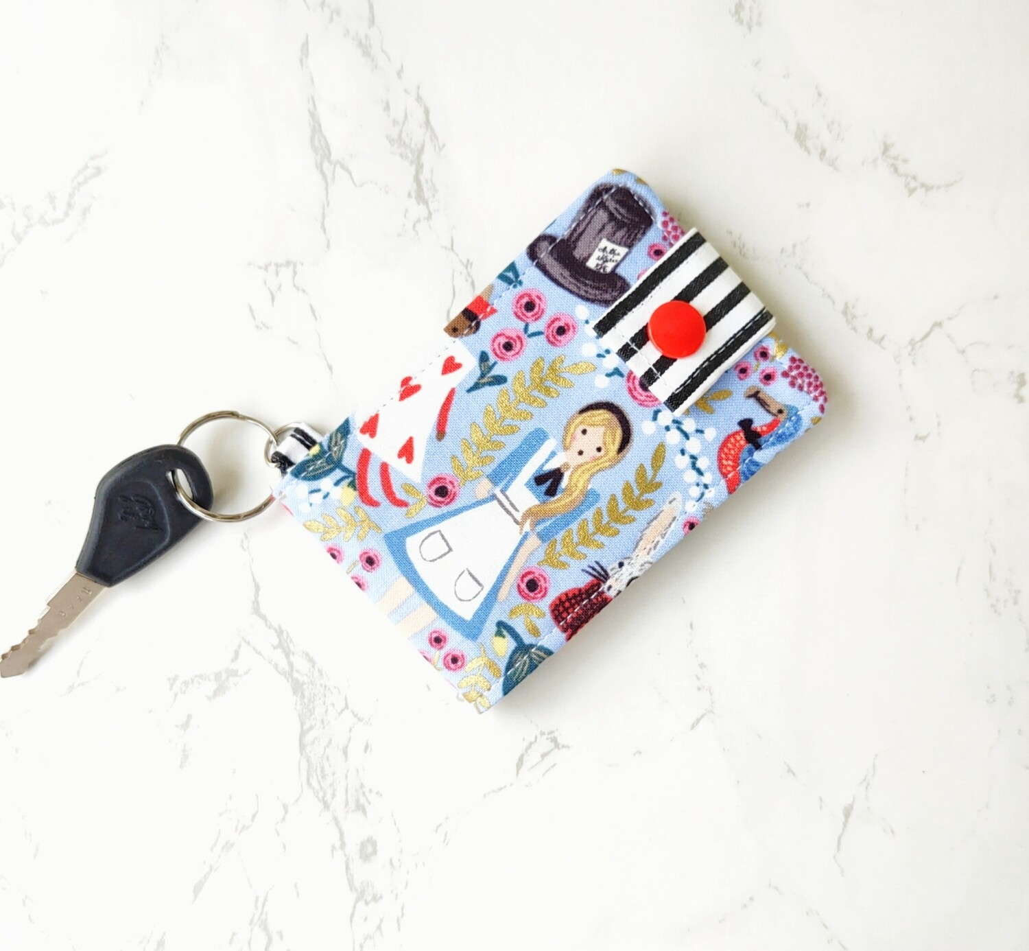 Alice Key and Card Holder Mini Wallet