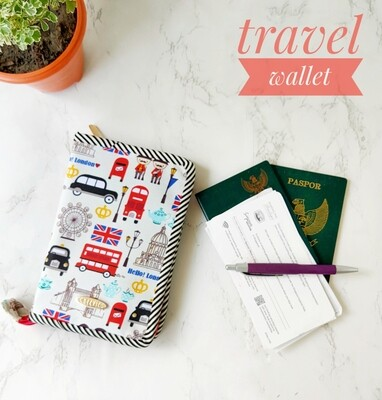 Zip Around Travel Wallet - Hello London