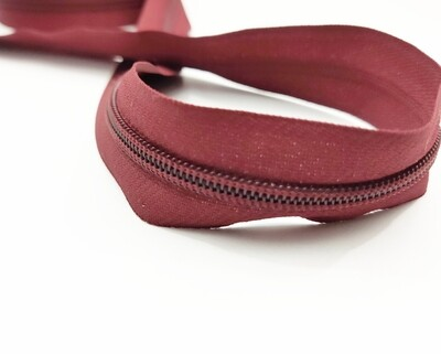 Maroon Nylon Zipper #5 yardage