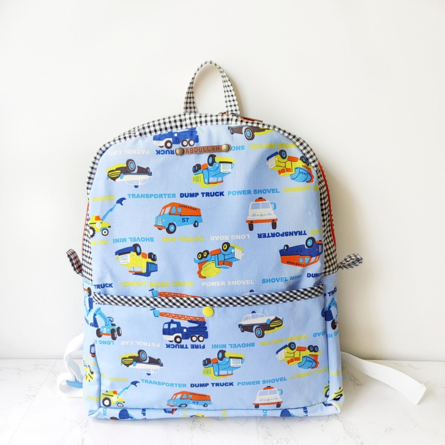 Personalized Kids Backpack Large Size - transport theme