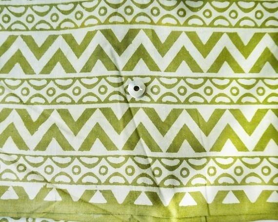 Green Daboo Mud Cloth Cotton Fabric