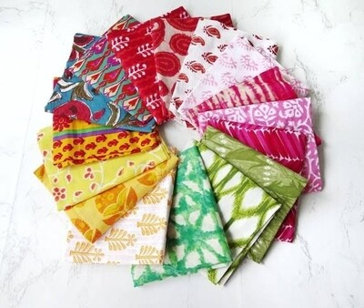 Mix color fat quarter bundle