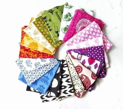 Mix Color Boho Fat Quarter Bundle of 18