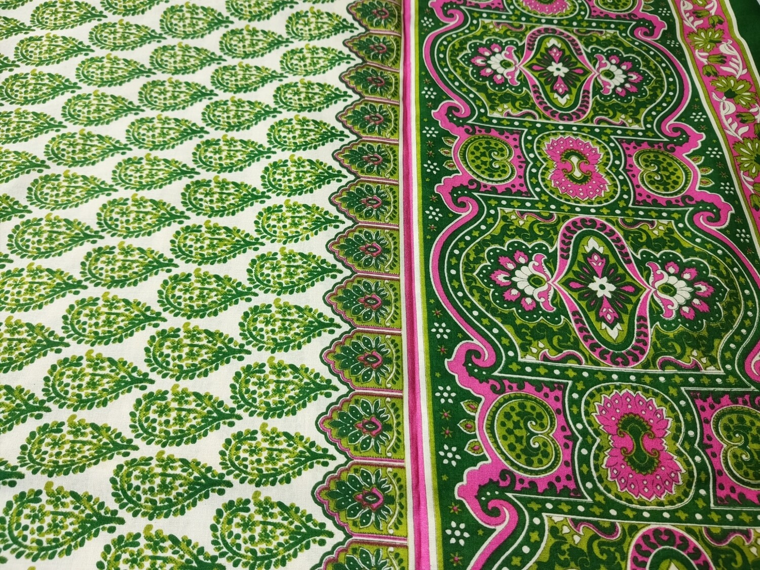 Green Paisley With Border