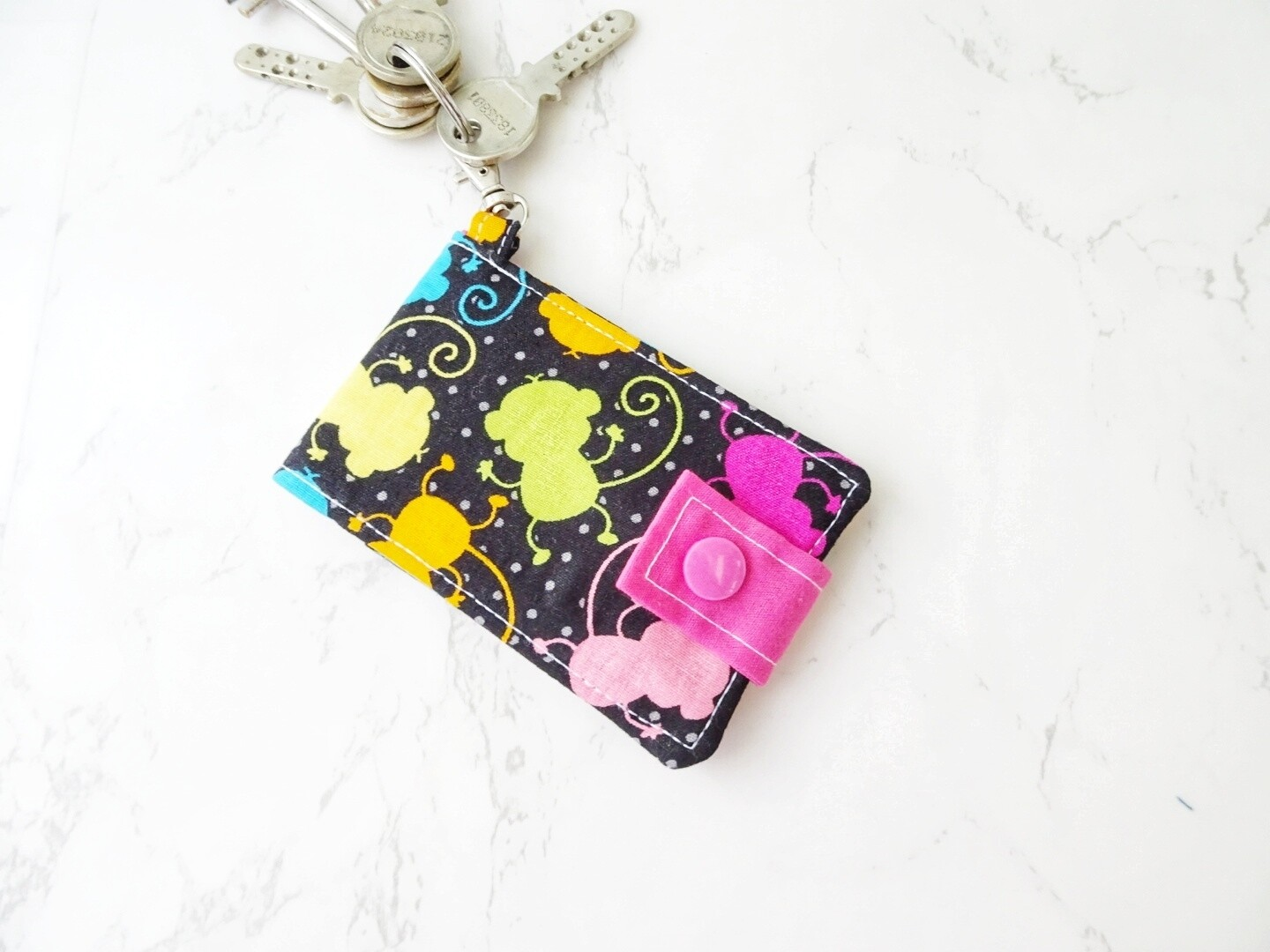 Monkey print ID Card and Key Wallet