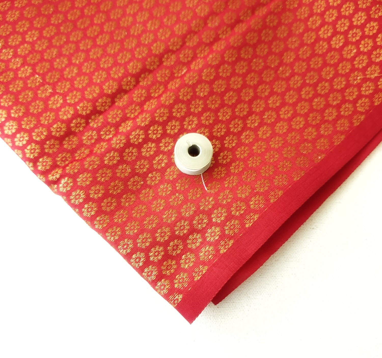 Red Silk Brocade - Fat Quarter