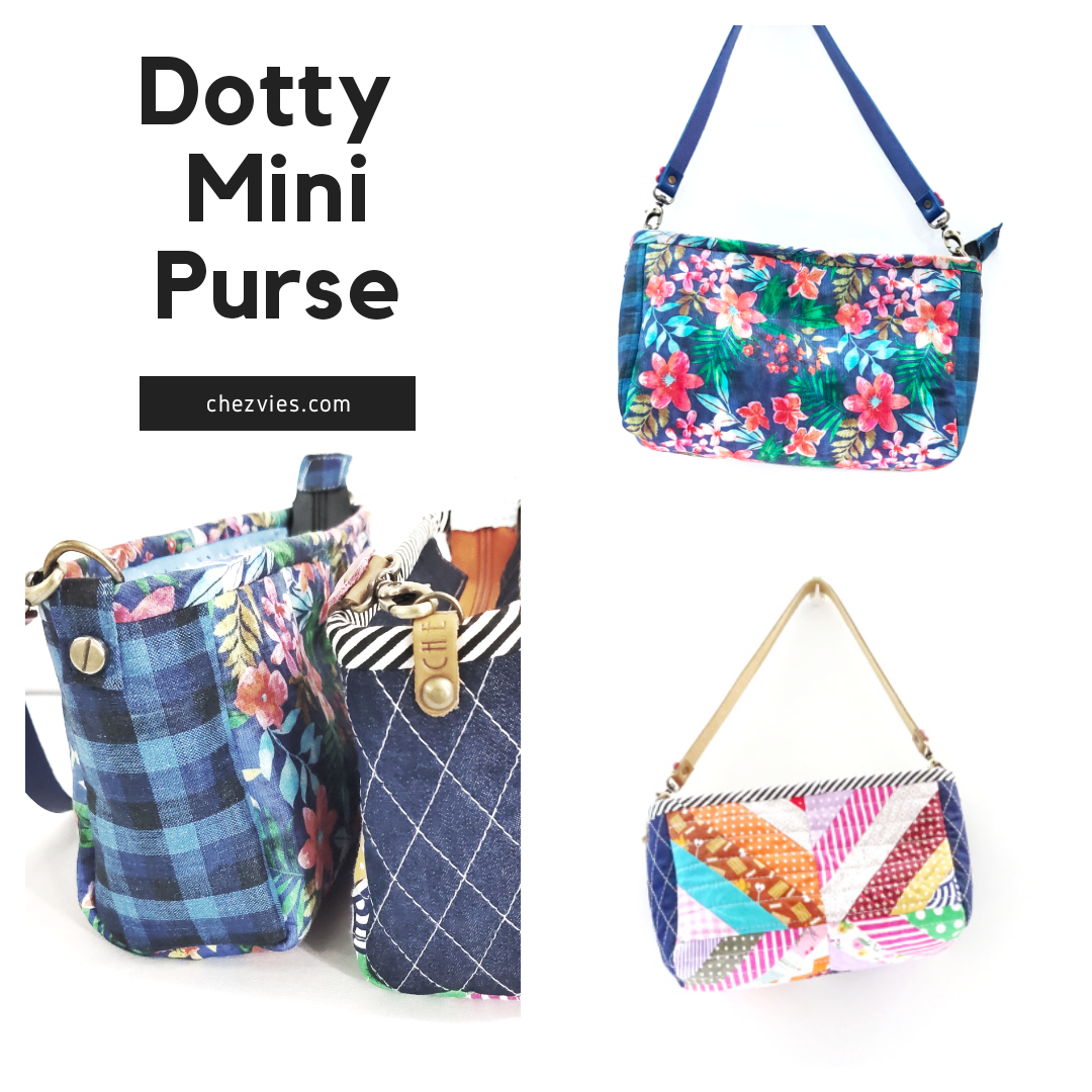 Pdf Pattern- Dotty Patchwork Mini Purse