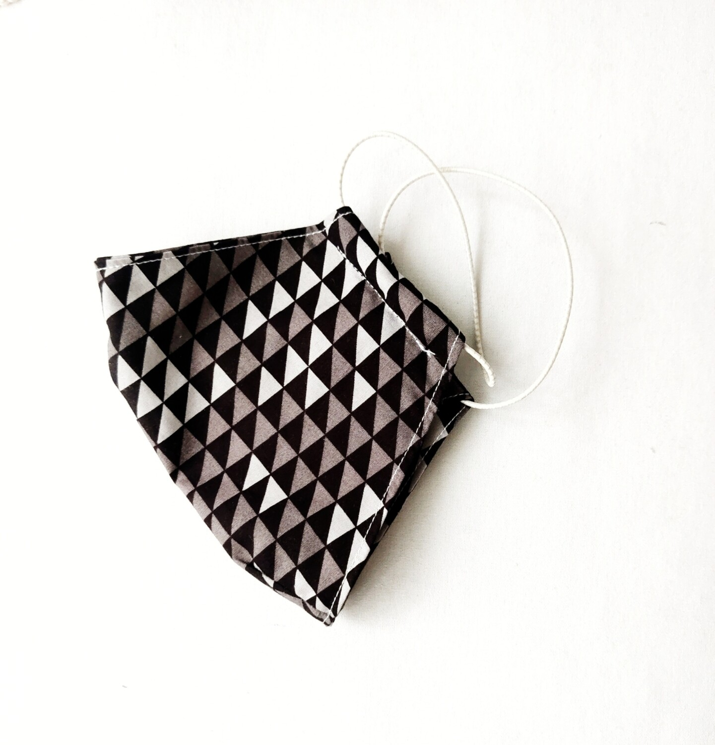 Grey Cloth Mask With Filter Pocket
