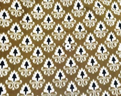 Henna Green Floral Cotton Fabric - 42 Inches Wide - Sold by Half Meter