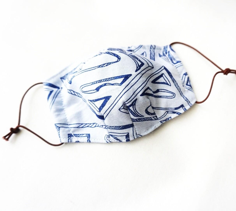 Reusable Fabric Mask for Kids  - Blue Superman