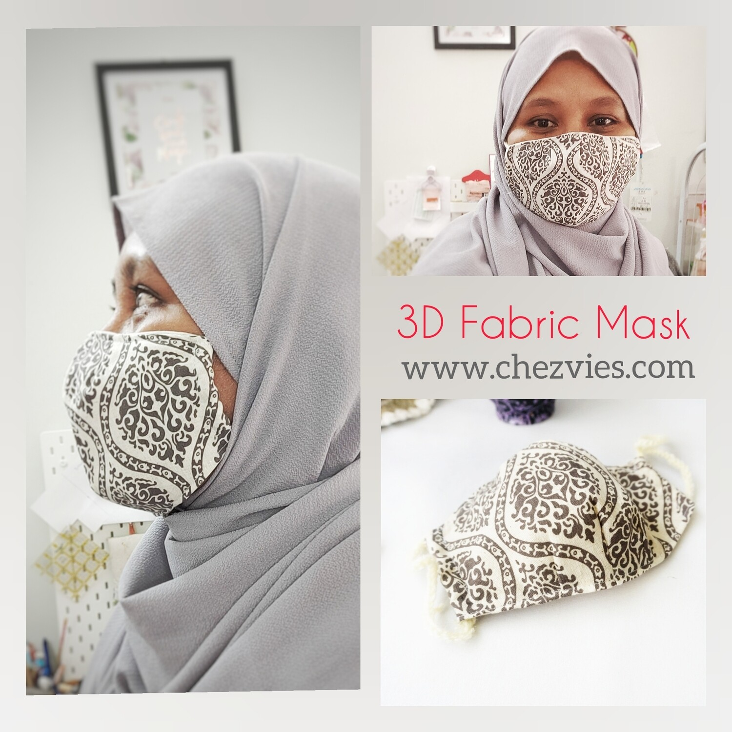 Pdf Pattern 3 D Fabric Dust Mask with Filter Pocket