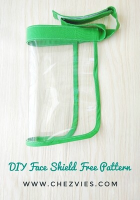 FREE PATTERN : DIY Face Shield, Face Guard Tutorial
