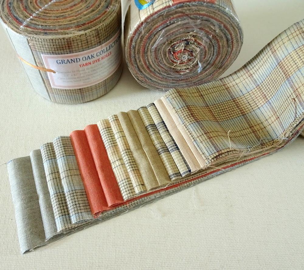 "Grand Oak Yard Dye Roll - Jelly Roll Fabric Rolls (2.5""x 42"") - imported"