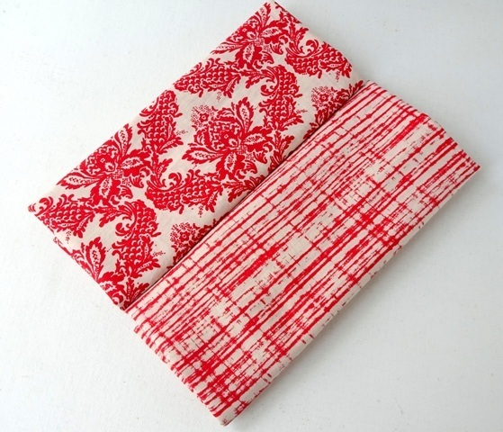 Red Floral Indian cotton fabric, Red stripe cotton fabric, lightweight cotton