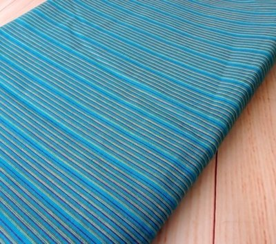 Blue Striped shot cotton woven fabric , DIY Craft, Sewing, Apparel, blue Grey small stripe Indian cotton fabric, half yard