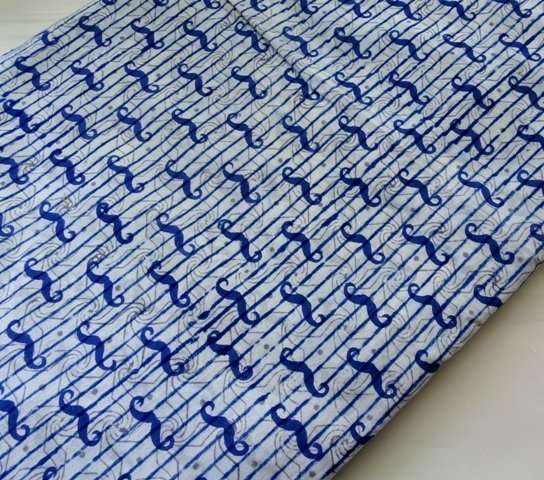 Indigo mustache print Indian cotton fabric block print cotton hand printed sewing crafting quilting cotton
