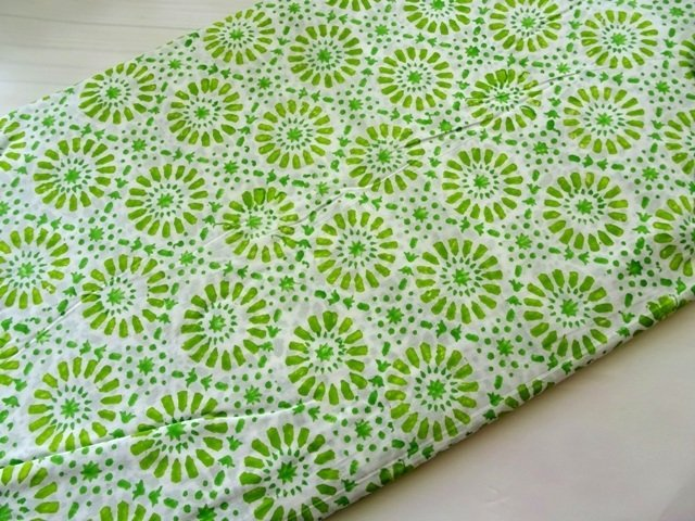Green floral fabric, Indian cotton, dress fabric , DIY, sewing, quilting, half yard, dress material, Indian fabric