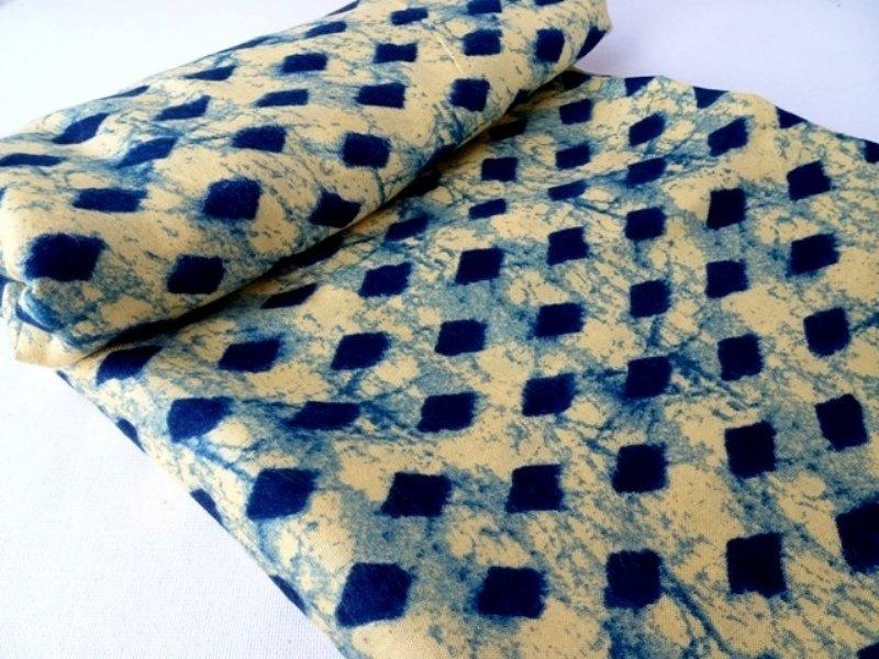 Diamond  Shibori Dress Material Fabric - Summer Fabric
