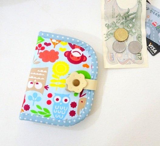 Bifold Wallet, Handmade Owl Bifold Wallet , Girls Wallet
