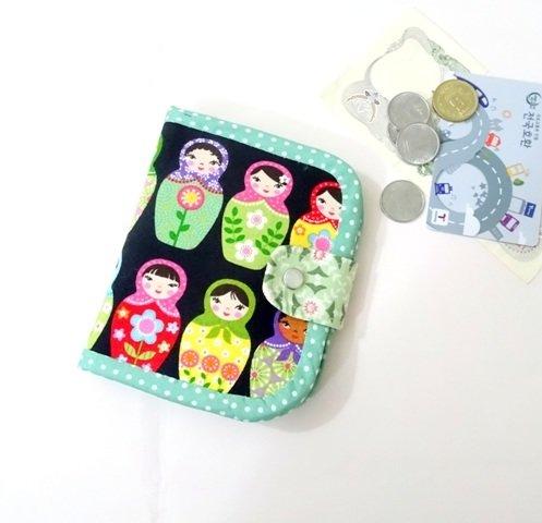 Matryoshka  Bifold Wallet, Handmade Wallet, Girls Wallet, Russian Doll Wallet