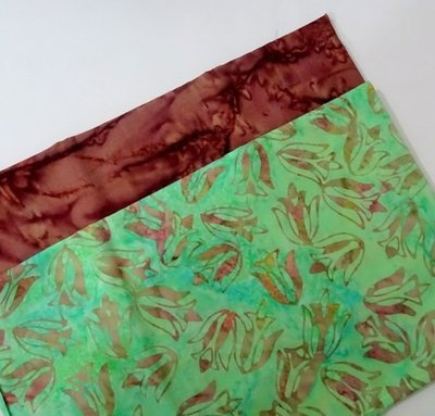 FAT QUARTER DUOS COFFEE GREEN
