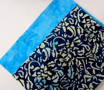 FAT QUARTER DUOS DARK LIGHT BLUE