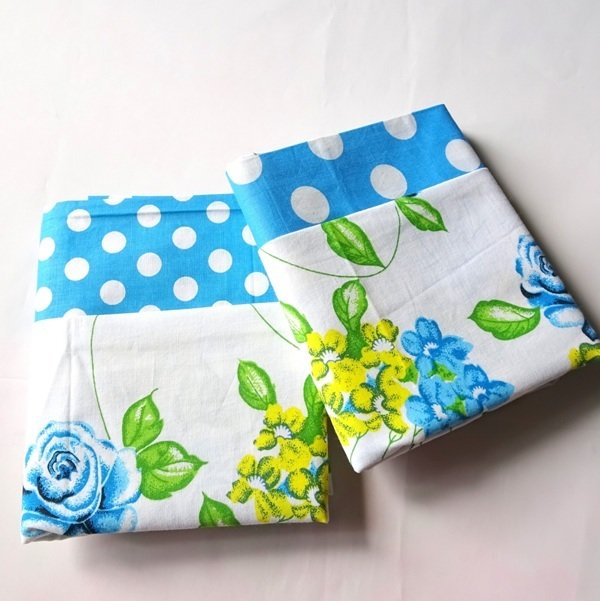 Half Yard Bundle Floral Polkadot BLUE