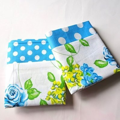 Half Yard Bundle Floral Polkadot BLUE